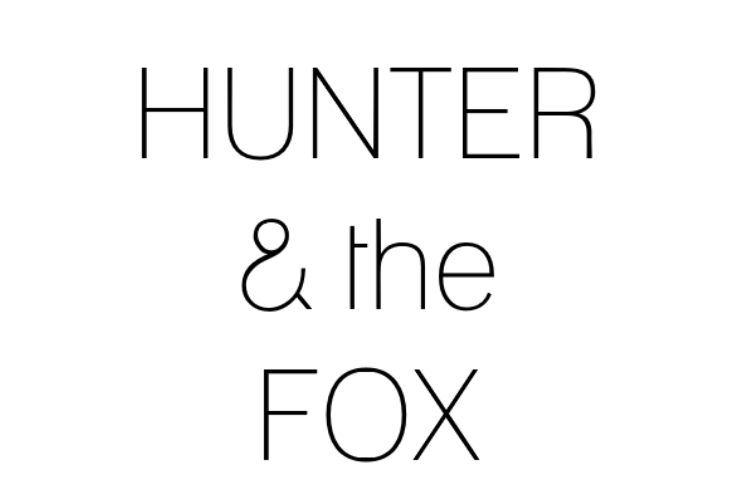 Handmade Ceramics Australia - Hunter and the Fox Logo
