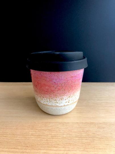 Handmade Ceramics Australia - Handmade ceramic sunset keep cup hunter and the fox