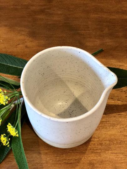 Handmade ceramic pour pot